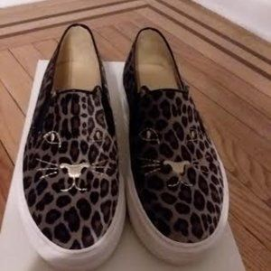 Charlotte Olympia  Cool Cats Slip-Ons  38.5 (8)